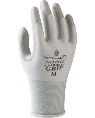 Guanti nitrile polsino Assembly Grip 370 white