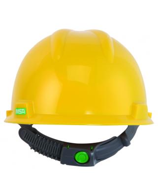 Elmetti V-Gard giallo con bardatura Push-Key