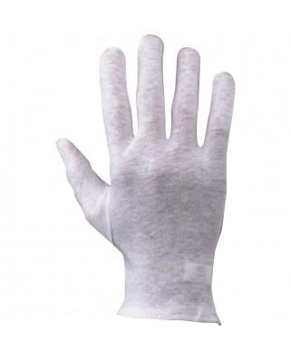 Guanti cotone orlati bianchi