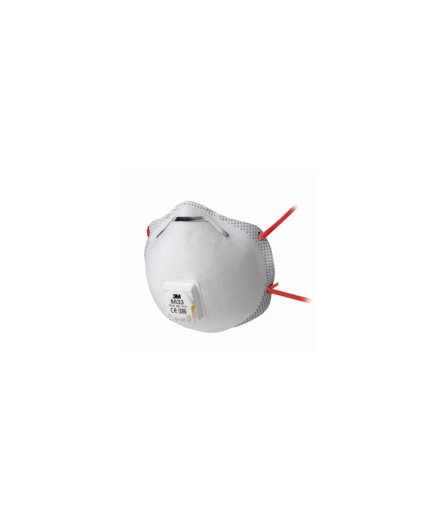 3m respiratore monouso 8833 ffp3 r d con valvola